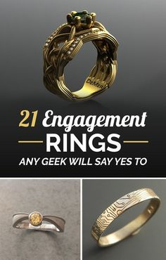 21 Engagement Rings Any Geek Will Say Yes To