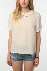 Urban Outfitters Blouse    Sparkle & Fade Metal Tip Blouse