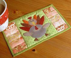 Thanksgiving Turkey Mug Rug pattern on Craftsy.com
