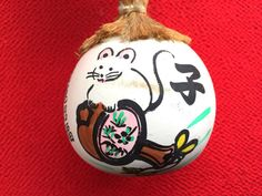 Japanese Ceramic Bell  Amulet  Lucky Charm  by FromJapanWithLove