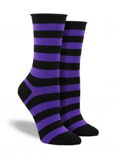 WANT: Comfort Top Basic Stripe Socks from SockDrawer.com |  Witchy Wear $7.00