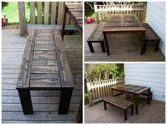 Idea was inspired by Anna White. I used recycled pallets instead and changed the dimensions.