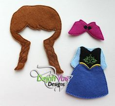 Non Paper Dolls offered by Stone House Stitchery **Outfit/Wig Only** Winter Princess Non Paper Doll Dress & Wig