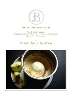 ISSUU - The British Larder caramelised apple ice cream recipe card by British Larder