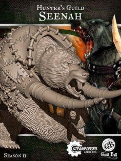 Steam Forge Games - GuildBall: Hunter: Seenah (Season 2) #STFBHUN02-002, SFGBHUN02-002 [5060453691434]