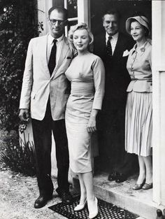 A.Miller and Marilyn with Laurence Olivier and Vivien Leigh