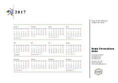 Kalender 2017 Editable PDF Corel HD Lengkap