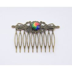 Rainbow Hair Clip Rainbow Hair Comb Pride Hair Clip Pride Hair... ($13) ❤ liked on Polyvore featuring accessories, hair accessories, decorative combs, silver, hair comb accessories, hair clip accessories, hair comb, barrette hair clip and hair clip comb