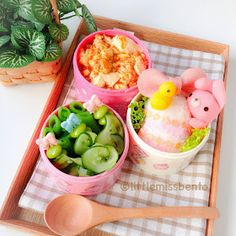 Bunny & little chick easter egg bento