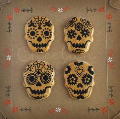 Día de los Muertos Skulls | Flickr - Photo Sharing!