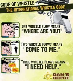 Code of Whistle | The International Whistle Code | #survival #skills #whistle-whistling for help when lost...