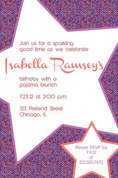 Rockstar birthday party invitation