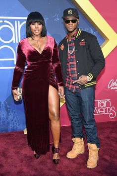The 2016 Soul Train Music Awards drew some of the biggest names in entertainment for a night of glamour, good music and a celebration of Black culture. We're taking a look at the best red carpet looks from the star-studded event. Black Celebrity Couples, Black Love Couples, Cute Couples, Power Couples, Female Rap Artists, Hip Hop Artists, Black Celebrities, Celebs, Train Music