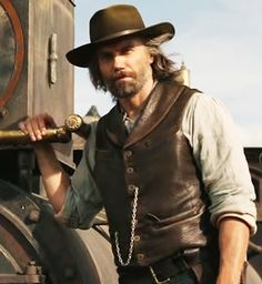 Cullen Bohannon - Hell on Wheels - Anson Mount Season 3 Fathers and Sins, episode 309 Anson Mount, Hat Tip, Hell On Wheels, Western Movies, Jason Momoa, Hello Gorgeous, Wild West, Hot Guys, Hot Men