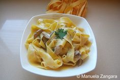 Pappardelle With Porcini Mushrooms:  This is a classic dish.  It is very easy to make and will impress even the fussiest eater!  Porcini ...[read more at Food Frenzy]