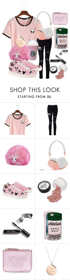 """""""pink"""" by mymusicrocks ❤ liked on Polyvore featuring Miss Selfridge, Frends, MOA Master of Arts, Bobbi Brown Cosmetics, ban.do, New Look and Kate Spade"""
