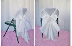 DIY Chair Covers made from Aisle Runners and a zip-tie!