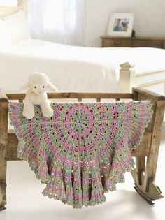 Caron International | Simply Soft® Paints Free Project | Candy Cable Baby Blanket free crochet instructions
