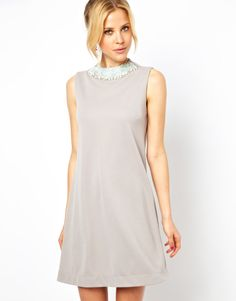 $30 ASOS Shift Dress with Embellished Collar