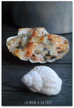 Coquille à la Dieppoise (crevettes décortiquées, moules, lieu noir ou dos de cabillaud, champignons de Paris...)
