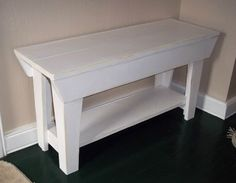 Shabby Wood Bench  32 inch  Chic Furniture  by daleswoodandmore, $60.00