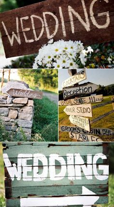 The top image. Wood & chalk signs - SO CUTE! And cost-effective. DIY