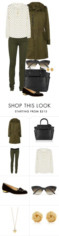 """Ambergate."" by foreverforbiddenromancefashion ❤ liked on Polyvore featuring Joseph, Reed Krakoff, Current/Elliott, Aubin & Wills, Charlotte Olympia, Chloé and Tiffany & Co."