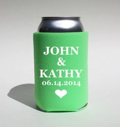 12 Custom Wedding Koozies  The Best Party is a by BeBopProps, $45.00  https://www.etsy.com/listing/186739821/12-custom-wedding-koozies-the-best-party?ref=shop_home_active_1