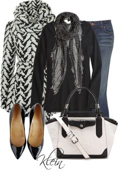 """""""Black & White"""" by stacy-klein on Polyvore"""