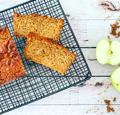 If you're anything like me and you adore apple pie flavours in almost anything, then you'll absolutely love this bread. It's the perfect mid day treat or brunch accompaniment. So moist that you can eat it as is and the pieces of apple scattered throughout are a delicious textural addition. Apple Bread, Apple Pie, Pie Flavors, Quick Bread, Cinnamon Apples, Baking Recipes, Breads, Pancakes, Brunch