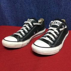 CONVERSE ALL STAR OX . Black . 37.5 7 Minimal wear . No issues . Clean Converse Shoes