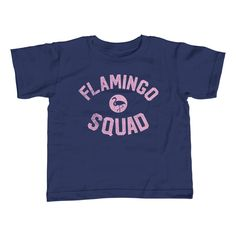 Boy's Flamingo Squad T-Shirt. Assorted colors; 2T-Youth Large. $25.00 from #Boredwalk, plus free U.S. shipping. Click to purchase!