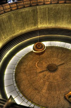 Pendulum inside Griffith Park Observatory, Los Angeles, CA. So the Earth does spin. Vintage California, California Dreamin', San Gabriel Mountains, Griffith Observatory, Griffith Park, City Of Angels, Pacific Coast, Adventure Is Out There, Day Trips