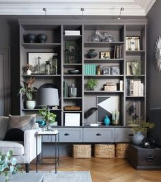 Wall hung IKEA Billy Hack by Design Sixty Nine || My Favourite 3 IKEA Billy Hacks - Arty Home