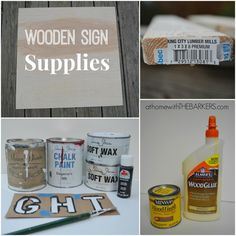 Wooden Sign Supplies #homedecor #holidays
