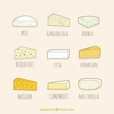 Kind of cheese collection, hand drawn style Free Vector | Free Vector #Freepik #vector #freefood #freemenu #freehand #freehealth Restaurant Menu Template, Menu Restaurant, Chopped Steak, Healthy And Unhealthy Food, Pizza Menu, Face Template, Fast Food Menu, Kinds Of Cheese, Colorful Vegetables