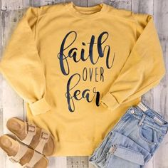 his /& her threads Grateful Thankful Blessed Faith Graphic Long Sleeve Printed Sweatshirt Shirt