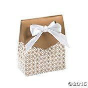 Gold Tent Favor Boxes With Bow ** Learn more by visiting the image link.