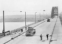 Operation Market Garden - British Tanks Cross the Road Bridge at Nijmegen
