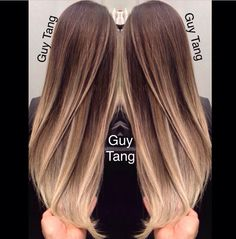 Gorgeous balayage ombré for brown hair