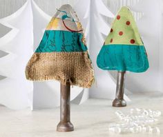 wonky fabric trees by melony miller bradley