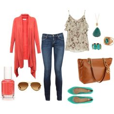 Just created this outfit on Polyvore.com-- perfect for a day in the City!