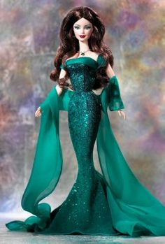 May Emerald™ Barbie® Doll   birthstone-collection   The Barbie Collection