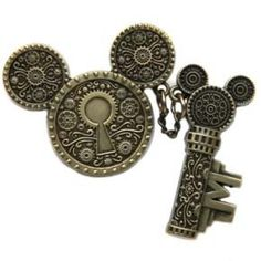 Disney Mickey Pin - Mickey Mouse Icon & Key Pin Set