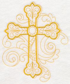 Doodle Cross design (M4394) from www.Emblibrary.com