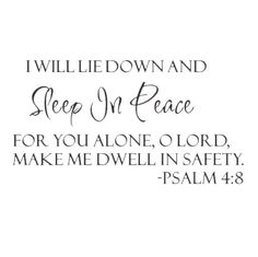 3.25AUD - Sleep In Peace Psalm 4:8 Bible Verse Lettering Wall Decal Quote Inspire X6N2 #ebay #Home & Garden