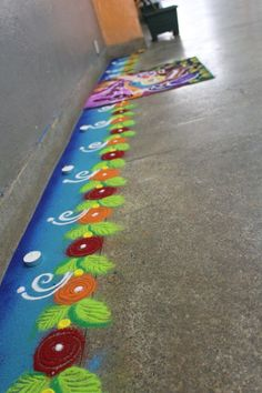 Rangoli Borders, Rangoli Border Designs, Rangoli Patterns, Beautiful Rangoli Designs, Easy Hairstyles For Kids, Quick Hairstyles, Indian Hairstyles, Diy Birthday, Birthday Gifts