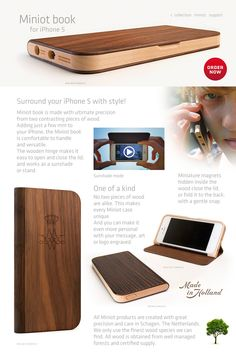 Realwood is amazing and this amazing case is made out of it.  I want a Miniot book and believe it is worth the $200