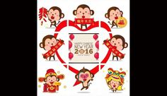 Cute monkey design to greet the new year. (Image: Monica Song)  http://www.visiontimes.com/2016/02/12/look-at-these-lovely-chinese-new-year-cards.html?photo=2