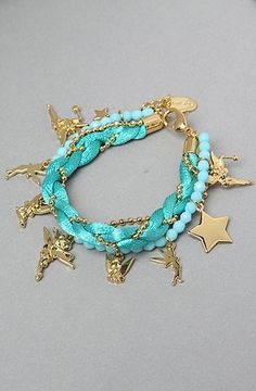 good Disney Couture Jewelry The Tinkerbell Bead Bracelet in Blue,Jewelry for Women